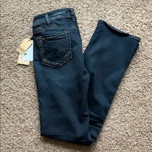 Dark wash Silver Suki slim bootcut jeans 30x33 NWT